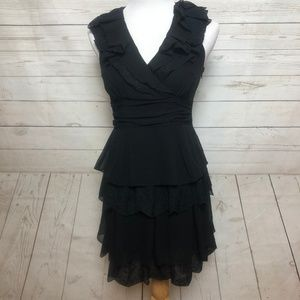 Jessica Simpson Sleevless Ruffle V Neck Dress